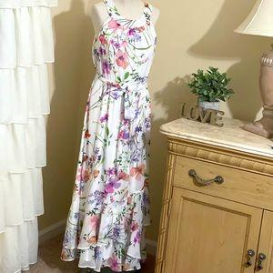 CALVIN KLEIN Floral Maxi Spring/Summer Dress NWOT